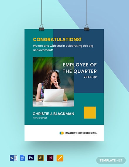 Best Employee of the Quarter Poster Template