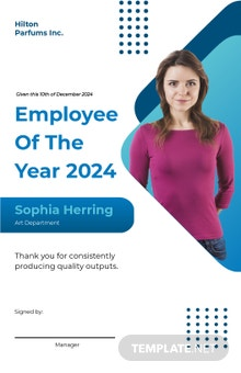 Best Employee of the Year Poster Template