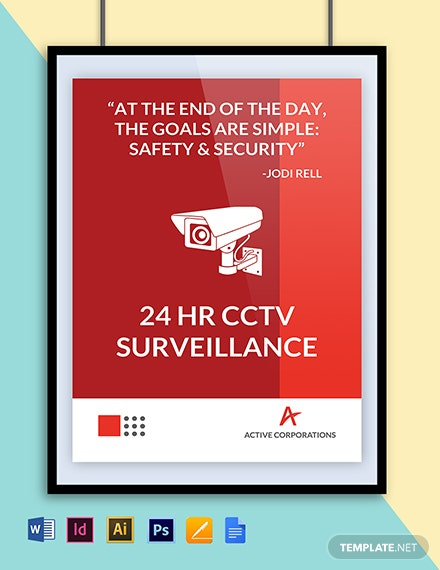 CCTV Coverage Poster Template