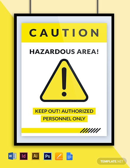 Hazardous Area Poster Template