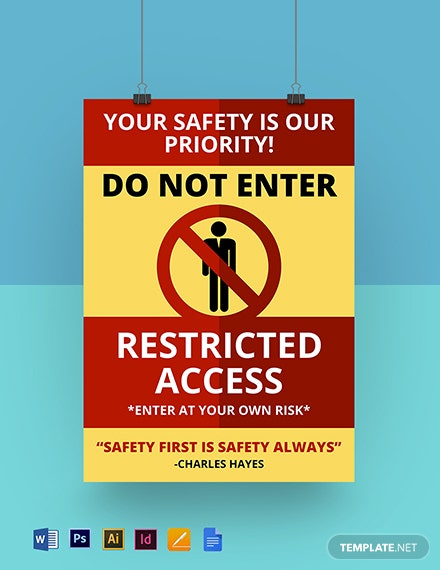 Restricted Access Poster Template