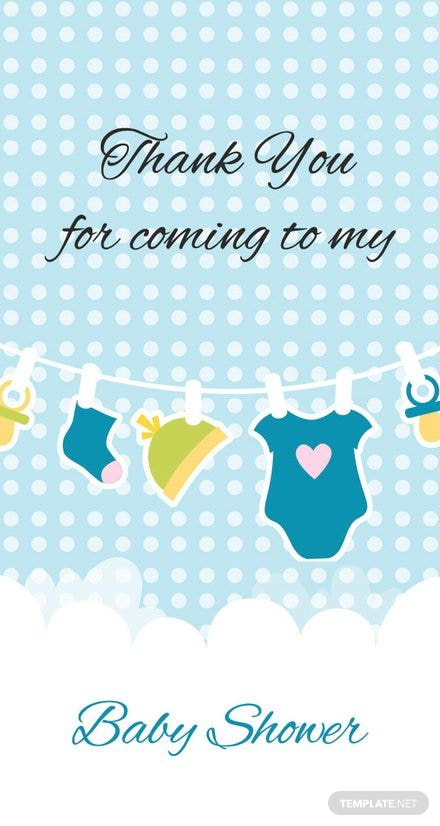 Free Baby Shower Thank You Tag Template Download 47 Tags In Psd