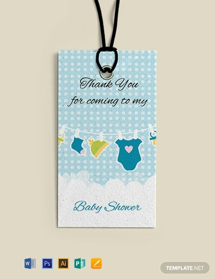 Free Baby shower Thank You Tag Template