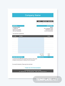 Website Development Quotation Template