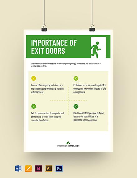 Exit Door Poster Template