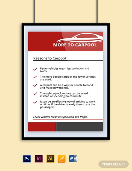 Car Pooling Poster Template