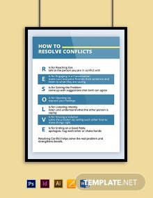 Resolving Conflicts Poster Template