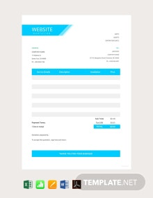 Free Website Quotation Template