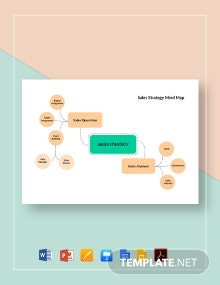 Sales Strategy Mind Map Template