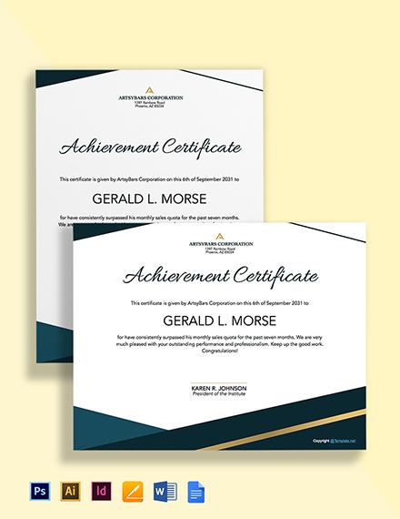 Free Simple HR Certificate Template