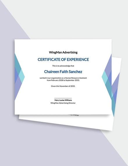 Free Elegant HR Certificate Template