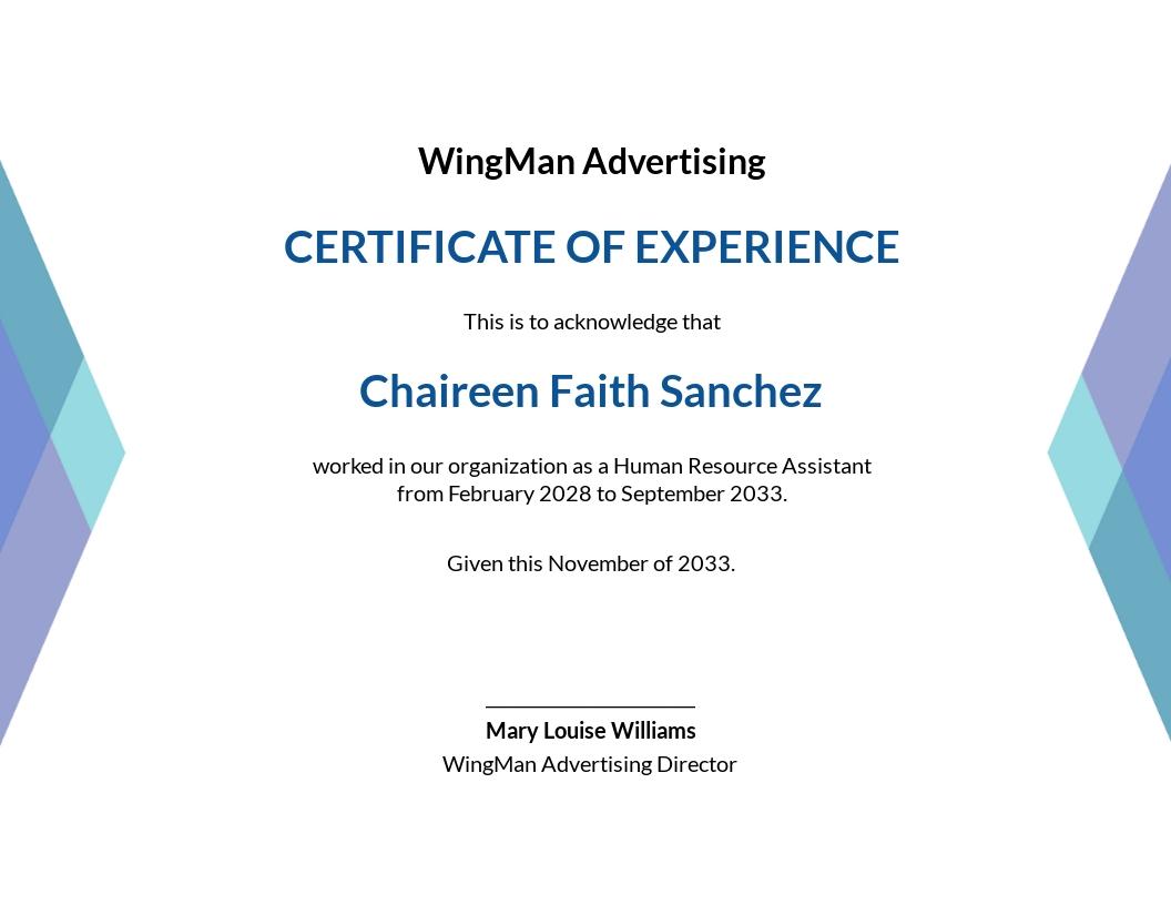 Elegant HR Certificate Template
