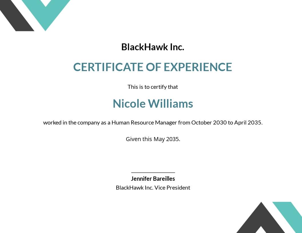 Free Modern HR Certificate Template.jpe
