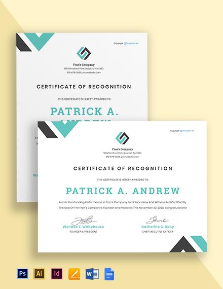 Free Modern HR Certificate Template