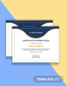 Job Well Done Certificate Template