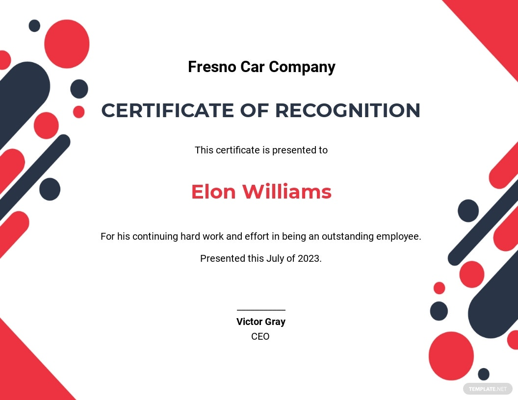 Recognition Certificate Template.jpe