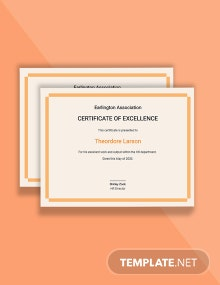 HR Excellence Certificate Template