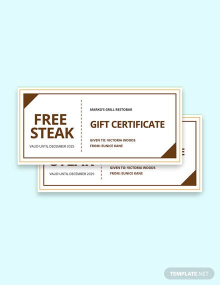 HR Gift Certificate Template