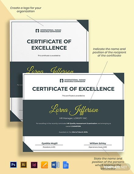 HR Champion Certificate Template