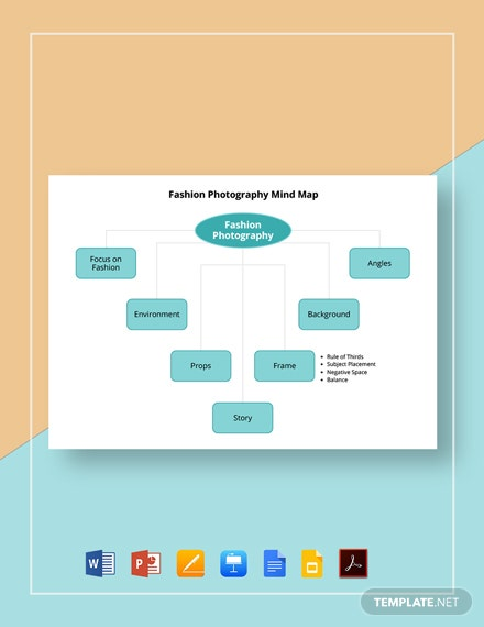 Fashion Photography Mind Map Template