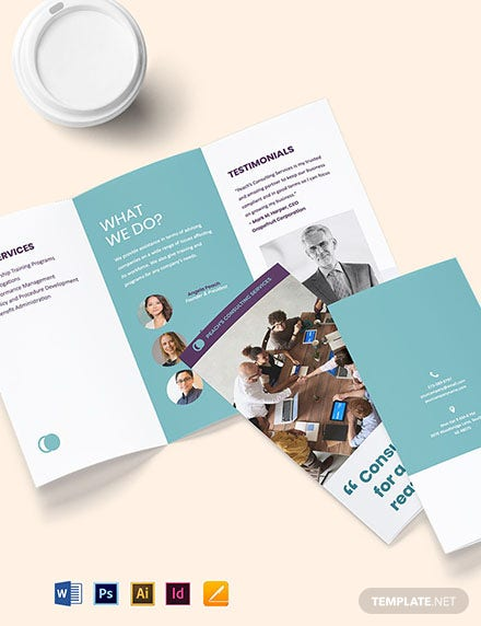 Free Sample HR Consulting Brochure Template