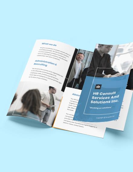 Free Modern HR Brochure Format