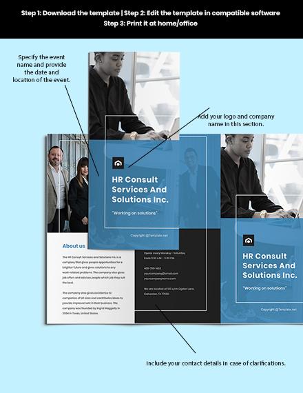 Free Modern HR Brochure Sample