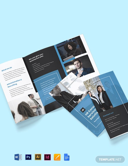 Free Modern HR Brochure Template