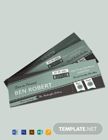 Free Concert Event Ticket Template