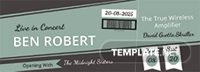 Concert Event Ticket Template
