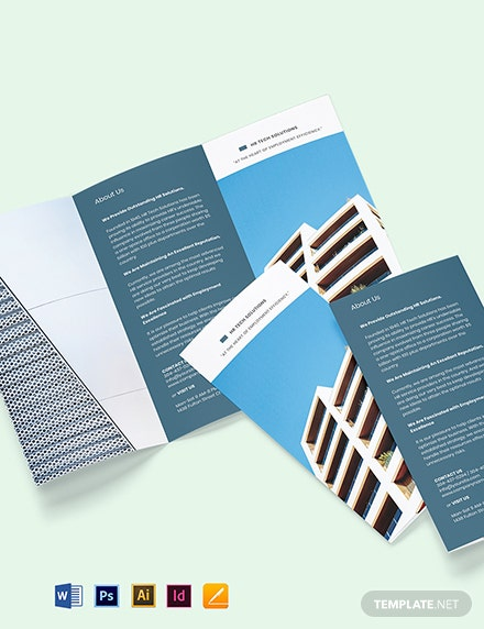 Free Elegant HR Brochure Template