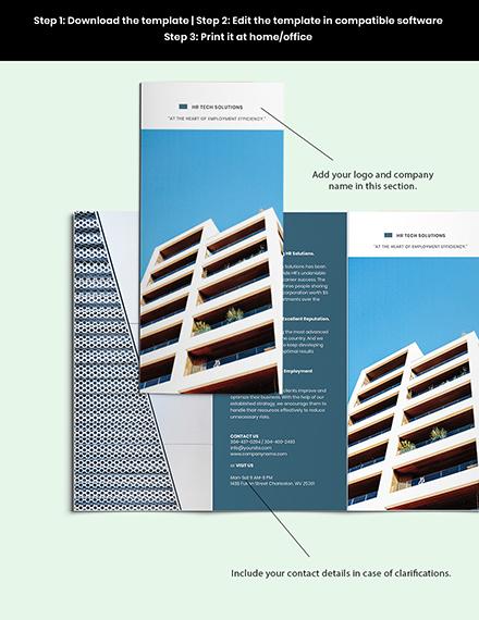 Free Elegant HR Brochure Template Example