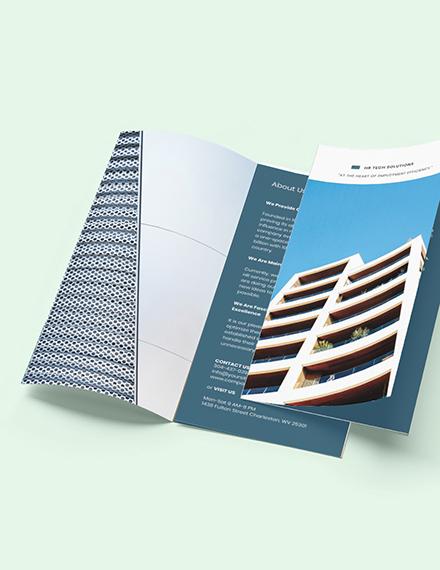 Free Elegant HR Brochure Template Sample