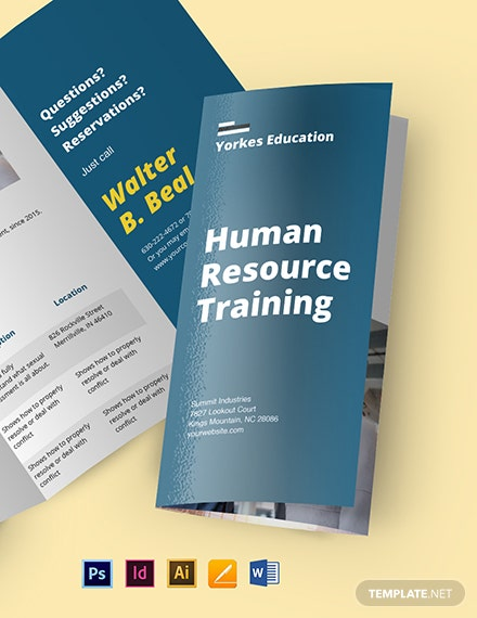 HR Training Brochure Template