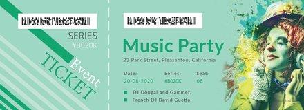 Modern Concert Ticket Template