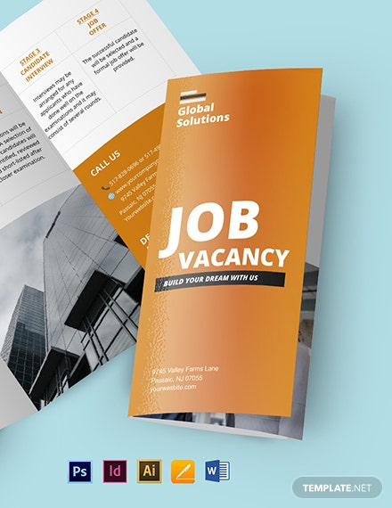 Job Vacancy Brochure Template