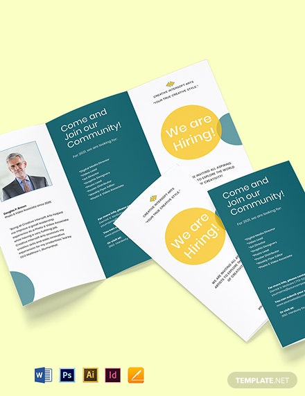Employment and Hiring Brochure Template