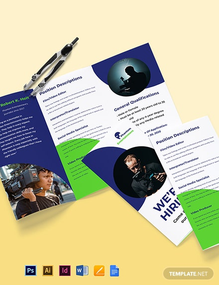 We're Hiring Brochure Template