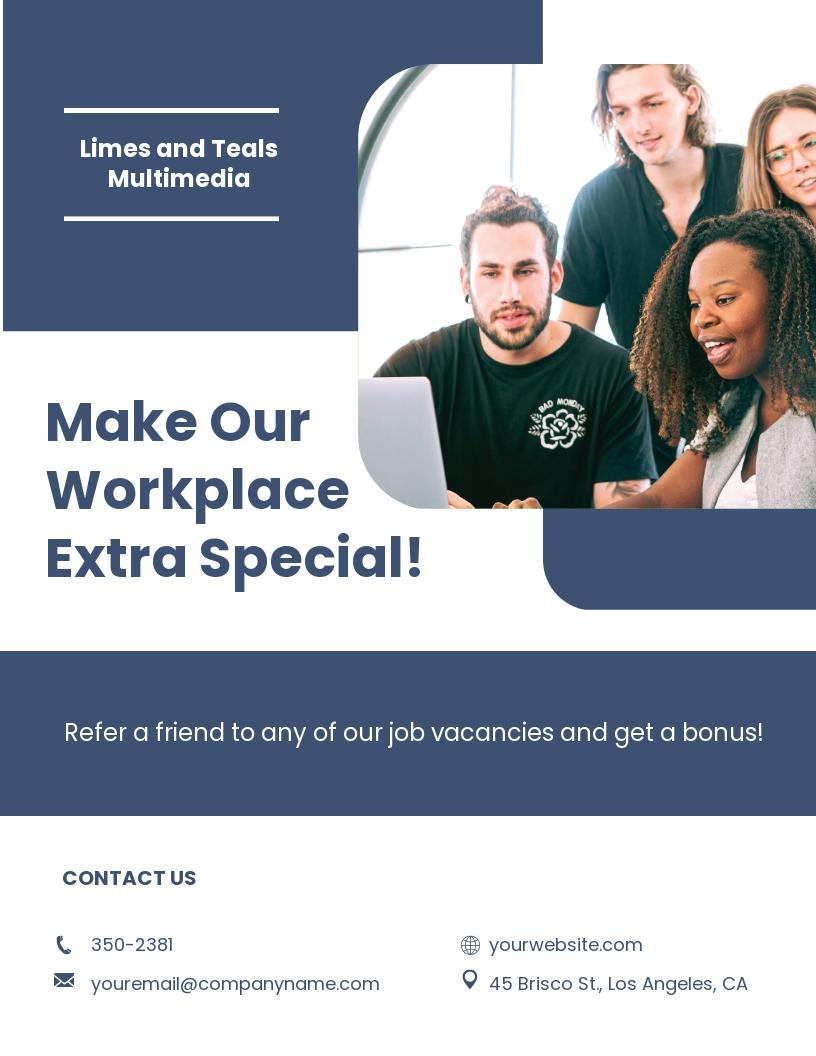 Free Sample HR Flyer Template