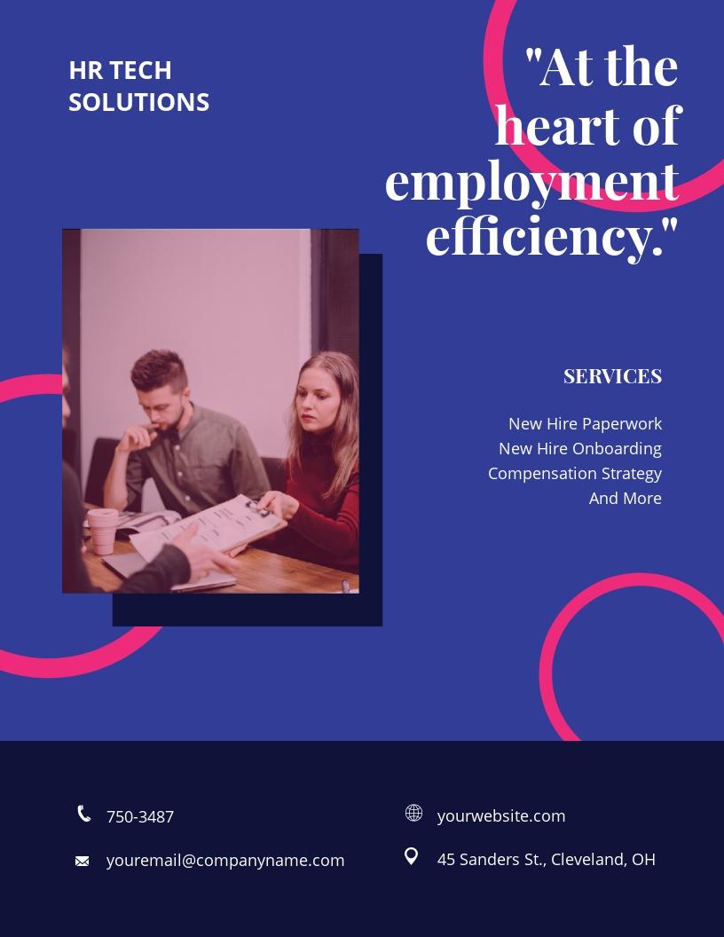 Creative HR Flyer Template