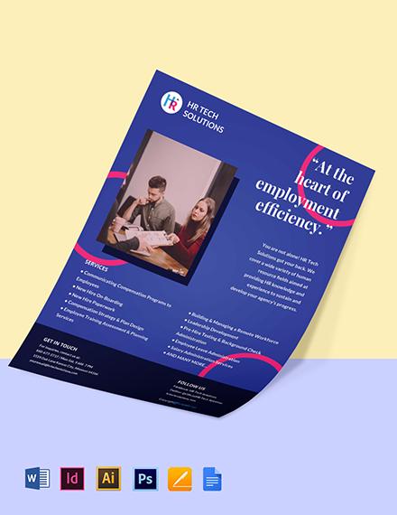Free Creative HR Flyer Template