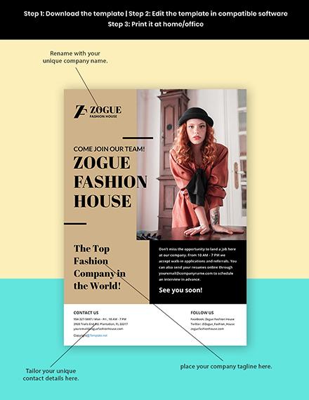 Free Elegant HR Flyer Template Format