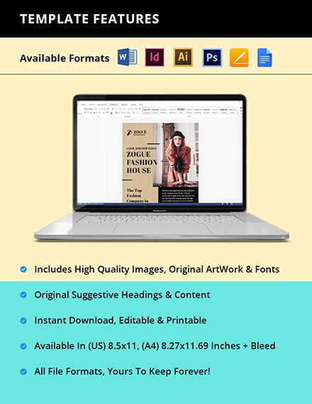Free Elegant HR Flyer Template Instruction