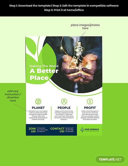 Corporate Social Responsibility Flyer Example