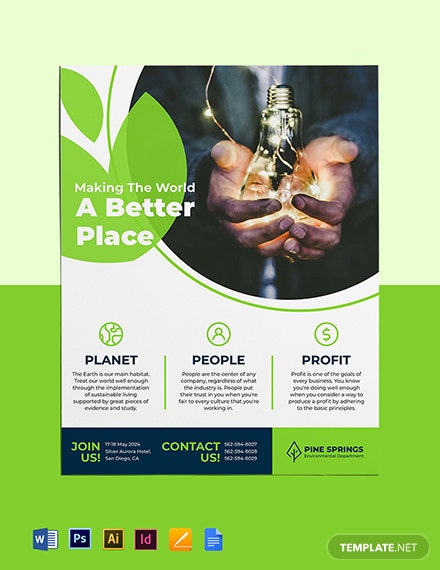 Corporate Social Responsibility Flyer Template