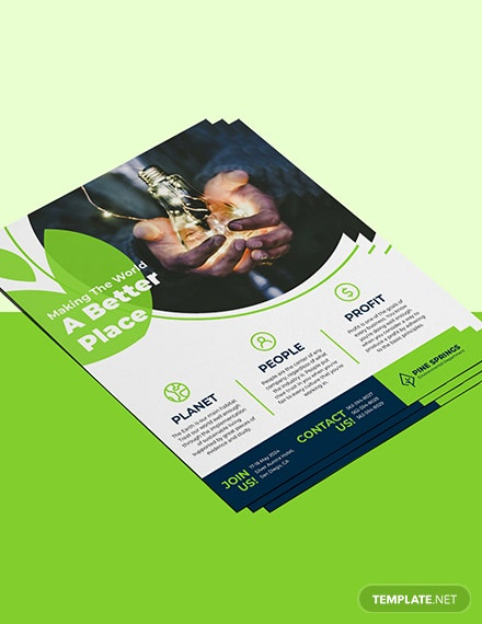 Corporate Social Responsibility Flyer Sample
