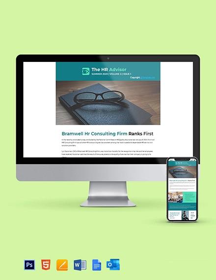 Free Sample HR Newsletter Template