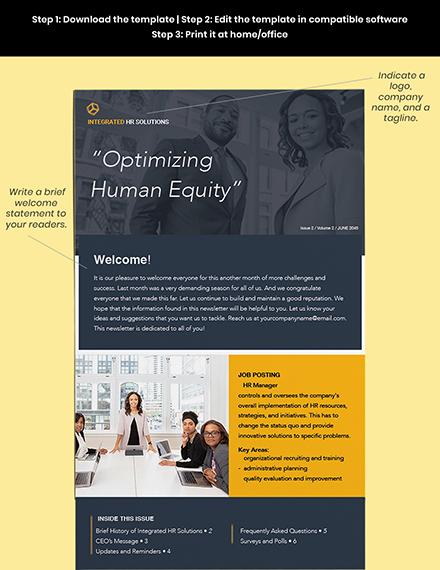 Free Editable HR Newsletter Editable