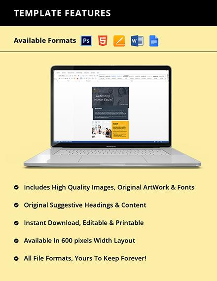 Free Editable HR Newsletter Instruction