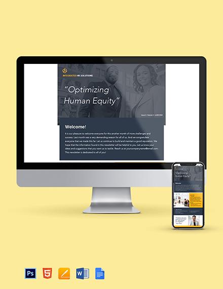 Free Editable HR Newsletter Template